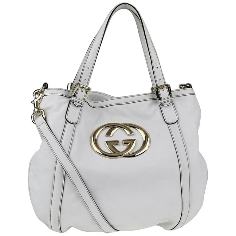 901251d327d Gucci Britt Hobo 2way 869672 White Leather Shoulder Bag For Sale at ...