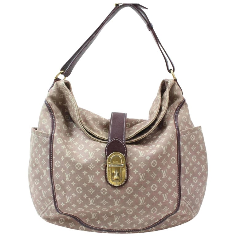 fe7dd2444738 Louis Vuitton Romance Sepia Monogram Mini Lin Idylle 869459 Burgundy Canvas  Shou For Sale