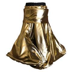Andreas Kronthaler for Vivienne Westwood 2016 Gold Lame Skirt or Dress