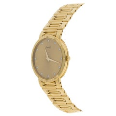 Piaget Champagne 18K Yellow Gold & Diamond Dancer GOA03305 Men's Wristwatch 31MM