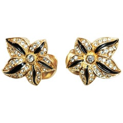 Christian Dior Floral Earrings