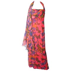 Vintage Malcolm Starr Silk Gown