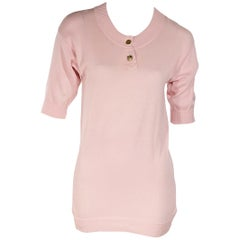 Light Pink Vintage Chanel Sweater Top