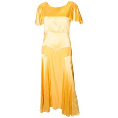 Vintage Yellow 1930's Gown