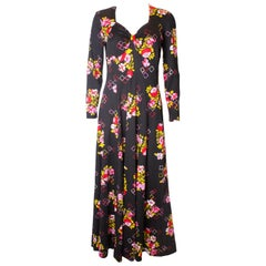 Vintage 1970s Floral Gown