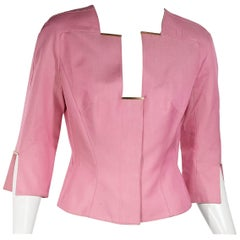 Pink Vintage Thierry Mugler Couture Cropped Jacket
