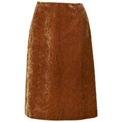 Crushed Gold Louis Vuitton Velvet Skirt