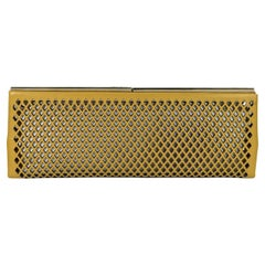 Yellow Jimmy Choo Laser Cut Leather Clutch