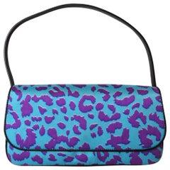 1990s Dolce & Gabbana Purple Leopard Print Bag