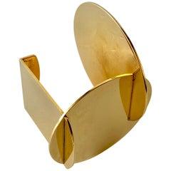 Tom Ford Runway Architectural Geometric Statement Cuff Bracelet