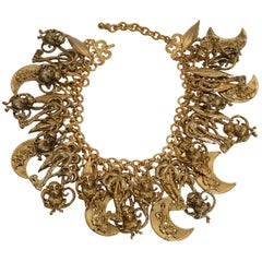 Francoise Montague Limited Series Gilded Brass Charm Necklace