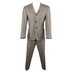 THOM BROWNE 38 Gray Wool 31x29 Pants Notch Lapel Suit