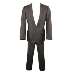 DIOR HOMME 38 Gray Striped Wool 32 28 Notch Lapel Suit