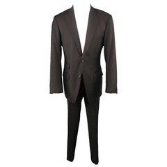 MARTIN MARGIELA 40 Black Lana Wool Notch Lapel REPLICA 80s Suit