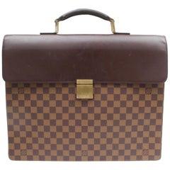 Louis Vuitton Altona Damier Ebene Gm Attache Briefcase 868920 Brown Coated Canva