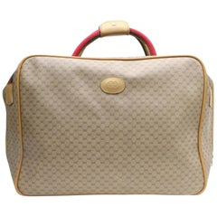 Gucci Sherry Monogram Web Suitcase Luggage 868728 Brown Coated Canvas Weekend/Tr