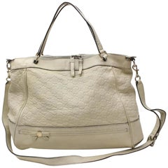 Gucci Emily Guccissima Hobo Tote 867303 Beige Patent Leather Shoulder Bag