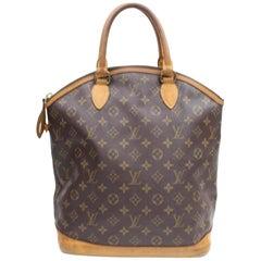 Louis Vuitton Lockit Monogram Mm 868108 Brown Coated Canvas Tote