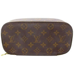 Louis Vuitton Brown Trousse Monogram Pouch Blush Case 868082 Cosmetic Bag