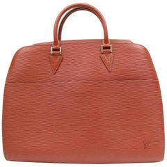 Louis Vuitton Sorbonne 868560 Brown Leather Weekend/Travel Bag