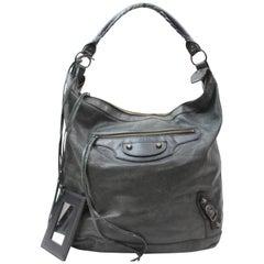 Balenciaga Arena Day Hobo 868558 Black Leather Shoulder Bag