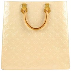 Louis Vuitton Sac Plat Special Order Vernis 18lva1104 Beige Satchel