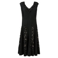 1950s Black Italian Dress