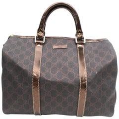 53ed9c45c Gucci Boston Supreme Monogram 869237 Brown Coated Canvas Satchel For ...
