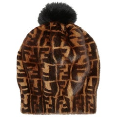 Fendi Mink and Fox Fur Hat