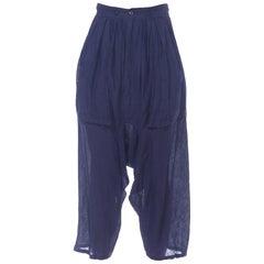 1980s Miyake Style Girbaud Pleated Linen Pants