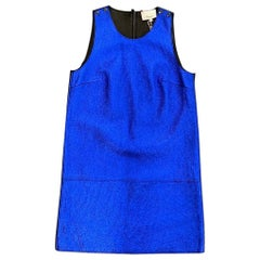 Philipp Plein electric blue Dress 100% lamb leather
