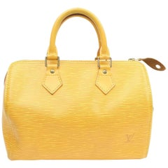 Louis Vuitton Speedy Tassil 25 869651 Yellow Leather Satchel