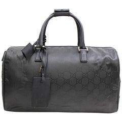 Gucci Boston Monogam Duffle 867354 Black Nylon Weekend/Travel Bag