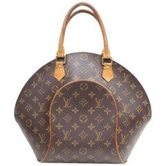 Louis Vuitton Ellipse Monogram Mm Seashell Bowler 868973 Brown Coated Canvas Sat