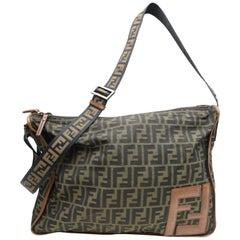 Fendi 7va148 Monogram Ff Zucca Messenger 869646 Brown Canvas Weekend/Travel Bag
