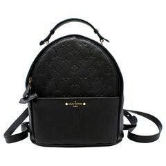 Louis Vuitton Empreinte Sorbonne black leather backpack