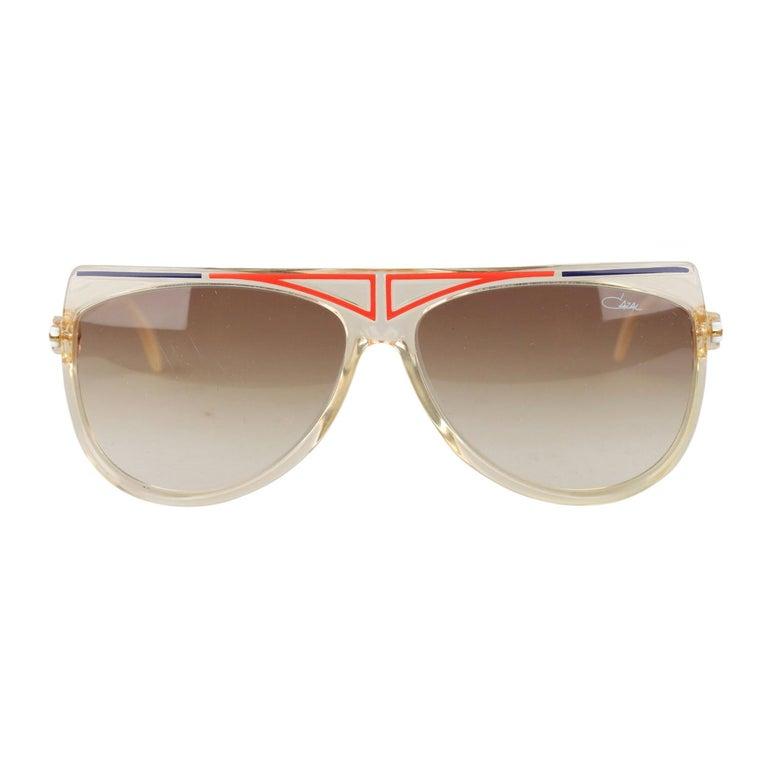 275a83a8b86b Cazal Vintage Rare Unisex Large Sunglasses Mod. 355 Original Lens 65mm For  Sale