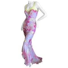 Emanuel Ungaro Lace Trimmed Vintage Silk Evening Dress by Peter Dundas