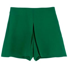 Valentino Green Pleated Shorts US 4