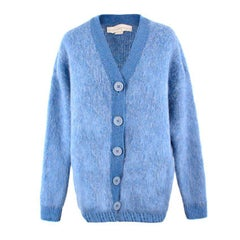 Stella Mcartney Blue Wool & Mohair Cardigan US 0-2