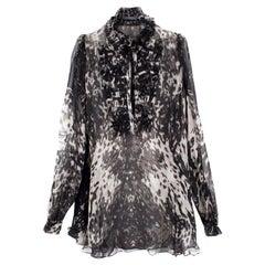 Alexander McQueen Sheer Silk Blouse US 6