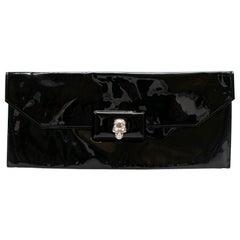 Alexander McQueen Patent Leather Skull Clutch Bag