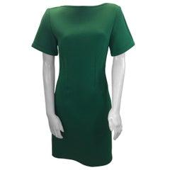 Lanvin Bright Green Short Sleeve Dress