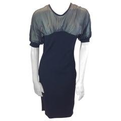 Valentino Black Chiffon Dress NWT
