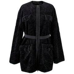 Lanvin Textured Embellished Coat US 4