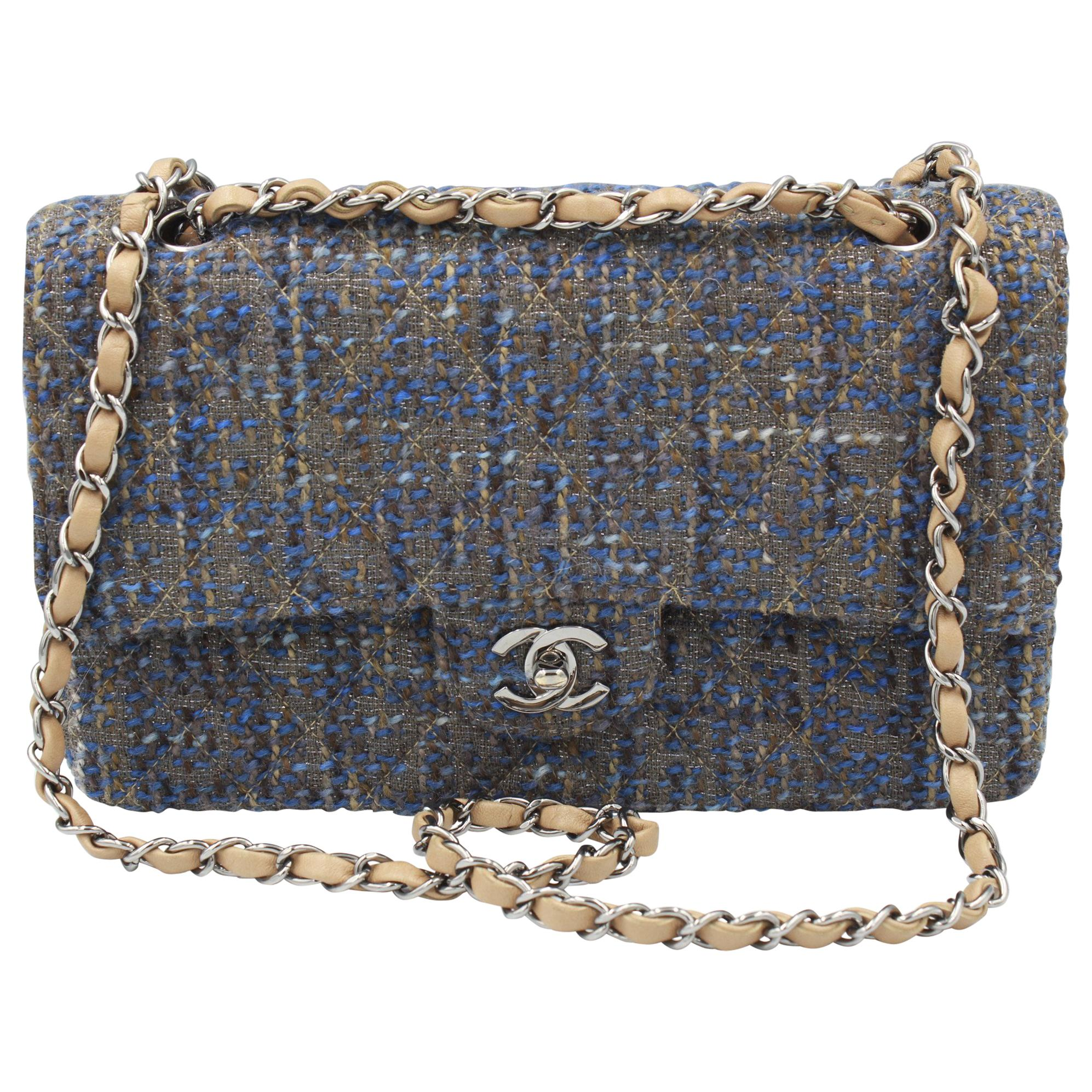 931ae22a2e3b Chanel Pewter 2.55 Reissue 227 Double Flap Bag - 2006 For Sale at 1stdibs