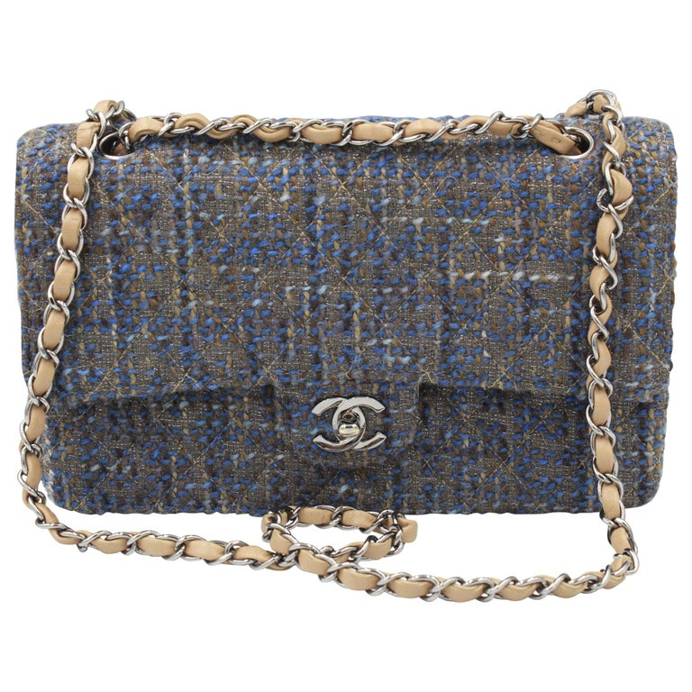 Chanel Timeless Tweed Double Flap 25 cm For Sale