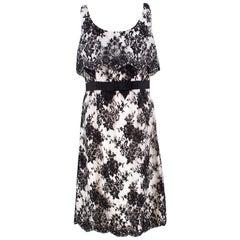 Christian Dior Black & White Lace Dress US 8