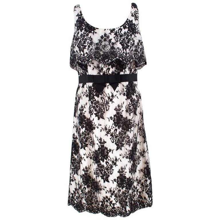 13daa33bdc3 Christian Dior Black and White Lace Dress US 8 For Sale at 1stdibs