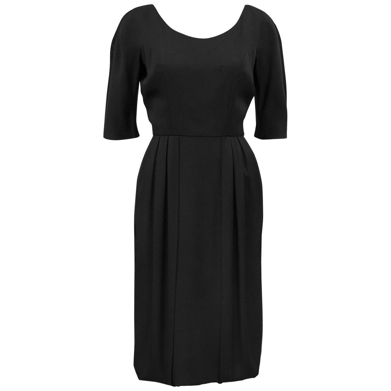 1950s Helen Rose Black Dress